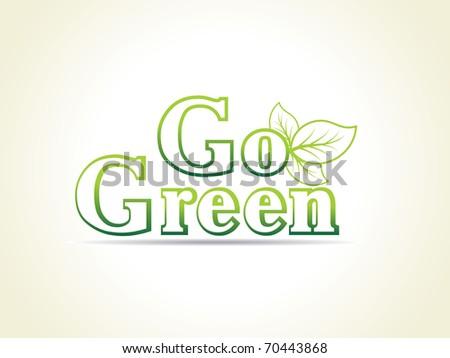 background for go green, vector illustration - stock vector