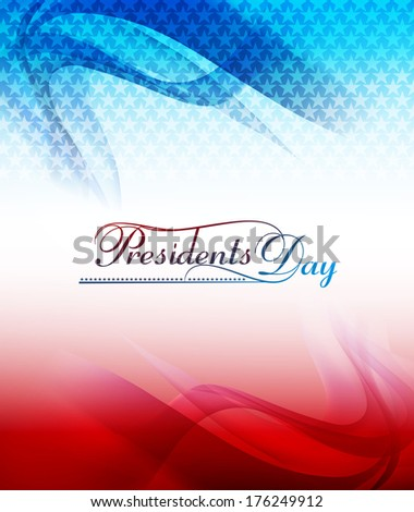 Background for President Day in United States of America with flag wave colorful design illustration - stock vector