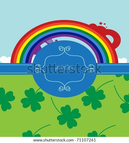 background for st. patrick day - stock vector