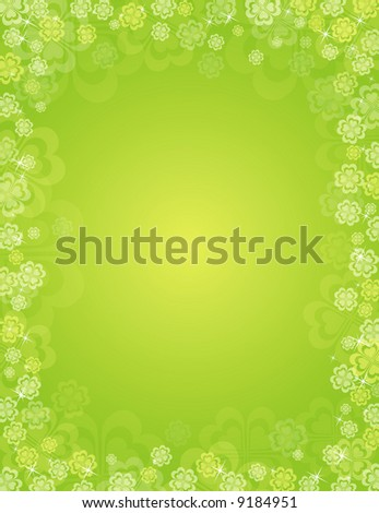 background for St. Patrick's Day - stock vector