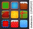 background for the app icons-christmas set - stock