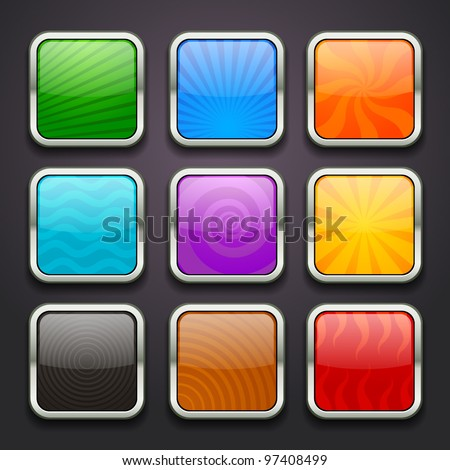 background for the app icons-part 3 - stock vector