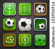 background for the app icons-soccer part - stock