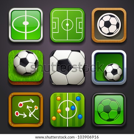 background for the app icons-soccer part - stock vector
