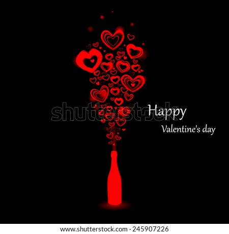 Background for the day Valentine. - stock vector