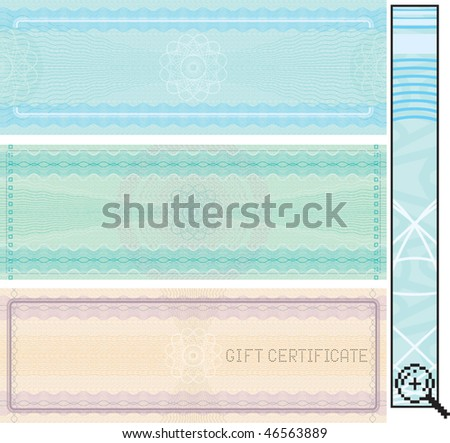 Background for various certificates.Vector without  gradients (EPS include CMYK) - stock vector