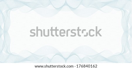 Background for Voucher, Gift Certificate, Coupon or Banknote - stock vector