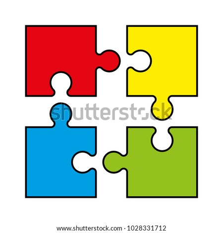 Background Four Piece Puzzle Pattern Abstrect Puzzles Picture Simple 4 Wallpaper Template