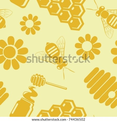 background from honey