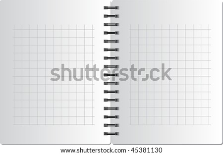 Background from notebook in square on the black spring - stock vector