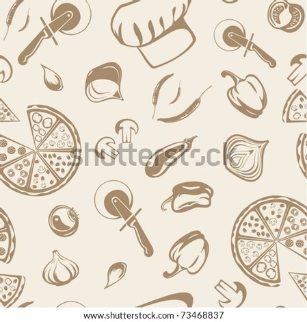 background from pizza - stock vector