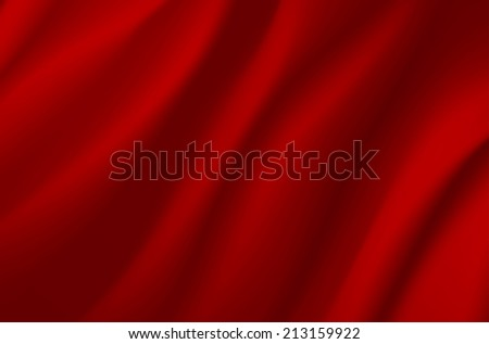 Background from red wavy fabric - vector illustration - stock vector