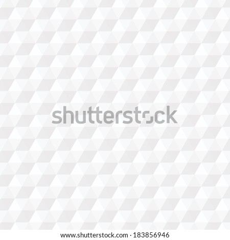 background from white hexagonal pyramids pattern. vector. - stock vector
