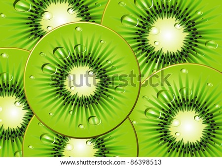 Background Fruit from a kiwi. A vector illustration. - stock vector