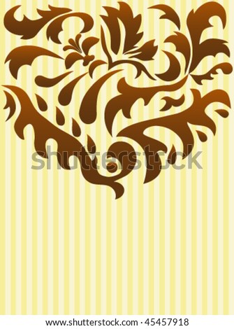 Background greeting card with decoration - stock vector
