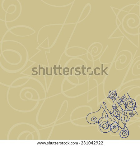 background Happy new year. vector illustration - stock vector