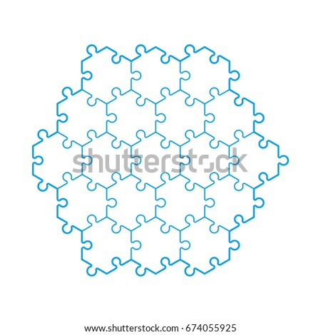Background Hexahedron Puzzle Pattern Hexagon Puzzle Stock Vector ...