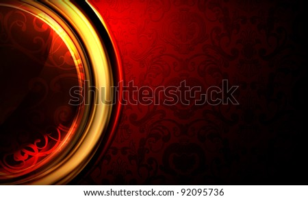 Background Horizontal red, 10eps - stock vector