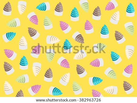 Background ice-creams. Use for wallpaper, pattern fills, web page background, vector color backdrop.