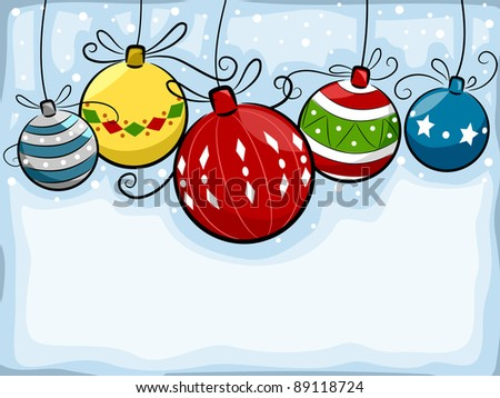 Background Illustration Featuring Christmas Balls - stock vector