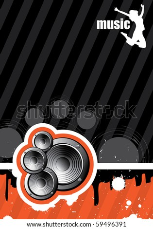 Background illustration of music - stock vector