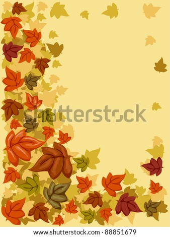 Background Illustration with an Autumn Theme