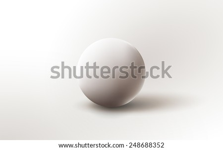 Background illustration with sphere,  cannonball.