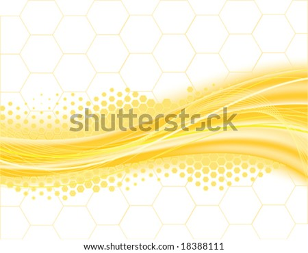background in the manner of bee hive - stock vector