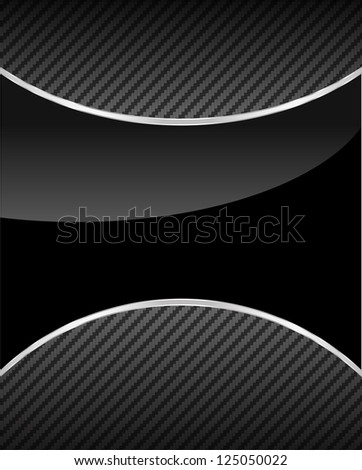 Background in two colors with a silver line, carbon fiber and glossy table, - stock vector