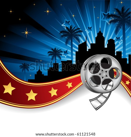 Background Inspired by Film Industry - stock vector
