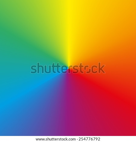 Background made of circular rainbow (spectrum) gradient - stock vector