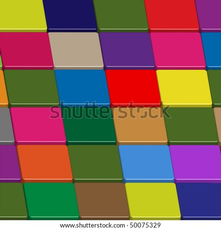 Background made of squares of various color