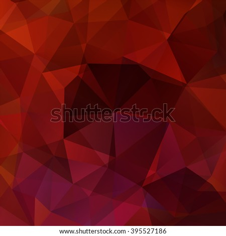 Background made of triangles. Square composition with geometric shapes. Eps 10. Red, brown colors.  - stock vector