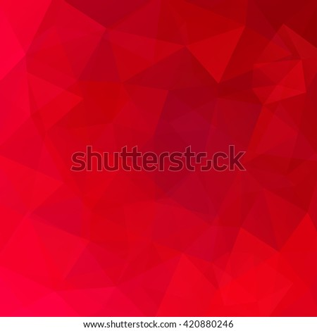 Background made of triangles. Square composition with geometric shapes. Eps 10 Red color.  - stock vector