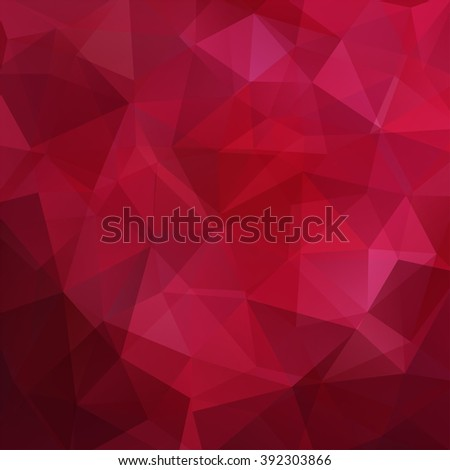 Background made of triangles. Square composition with geometric shapes. Eps 10 Red, pink colors.  - stock vector