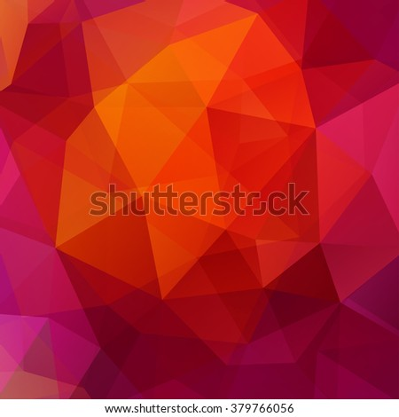 Background made of triangles. Square composition with geometric shapes. Eps 10. red, Pink, purple, orange colors.  - stock vector