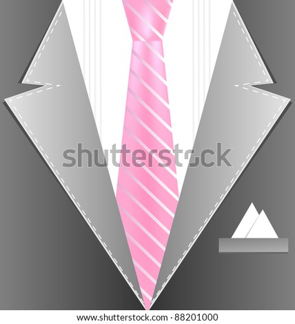 background male costume - stock vector