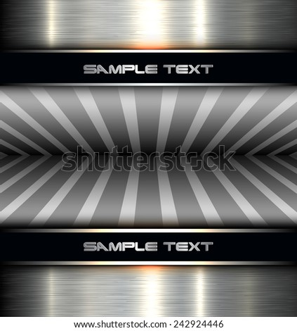 Background metal texture, 3D vector illustration. - stock vector