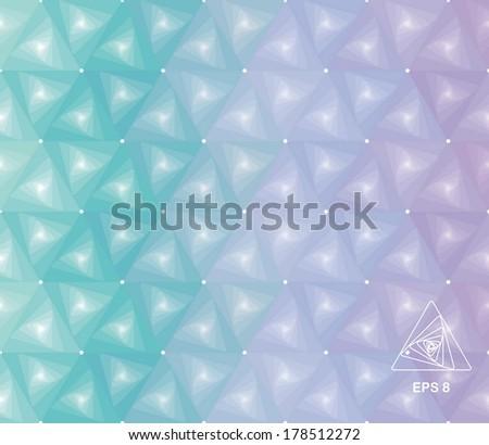 background mit modern seamless geometric triangle  pattern, vector illustration - stock vector