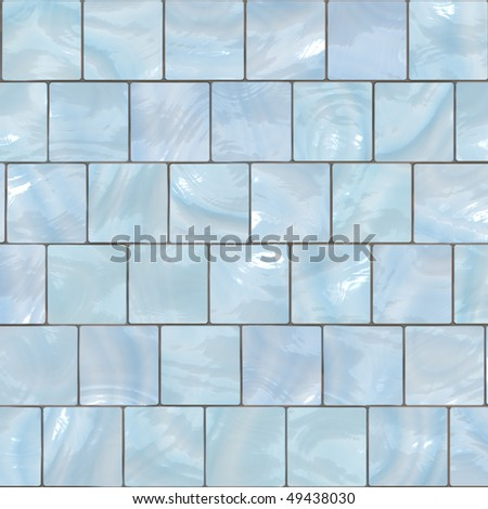 Background mosaic design of shiny tile boxes or cubes in blue and white tones. Can be tiled seamlessly. Vector also. - stock vector