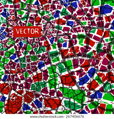 background mosaic of small pieces. Vector
