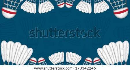 Background of Badminton - Sport - illustration - stock vector