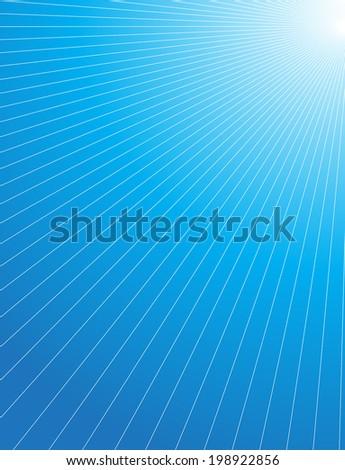 Background of blue luminous rays.  - stock vector