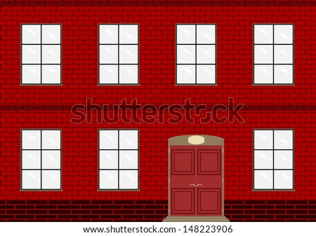 Background of brick wall of an old factory or home. - stock vector
