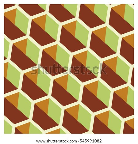 Background of cubic shapes on a wallpaper
