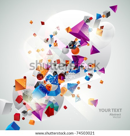 Background of 3d geometric shapes.