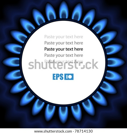 Background of flaming gas. Ready for a text - stock vector