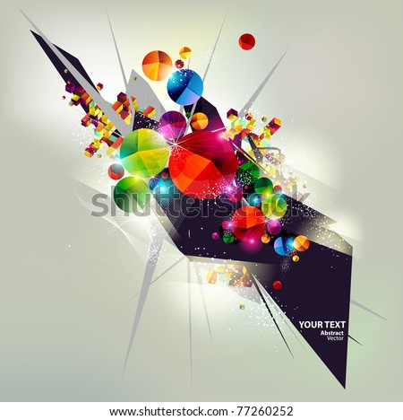 Background of  geometric shapes. - stock vector