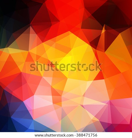 Background of geometric shapes. Colorful mosaic pattern. Vector EPS 10.  Vector illustration. Red, yellow, blue, orange  - stock vector