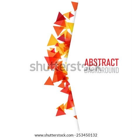 Background of geometric shapes.Modern triangle background - stock vector